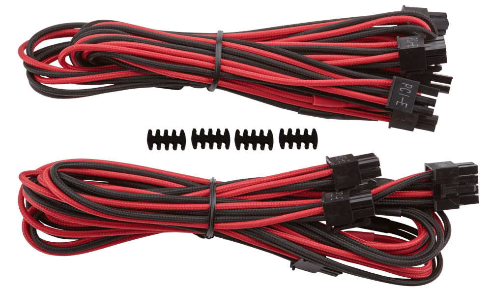 medium resolution of corsair premium individually sleeved type 4 generation 3 pcie cables with single connectors feature a flexible paracord sleeve and in line capacitors that