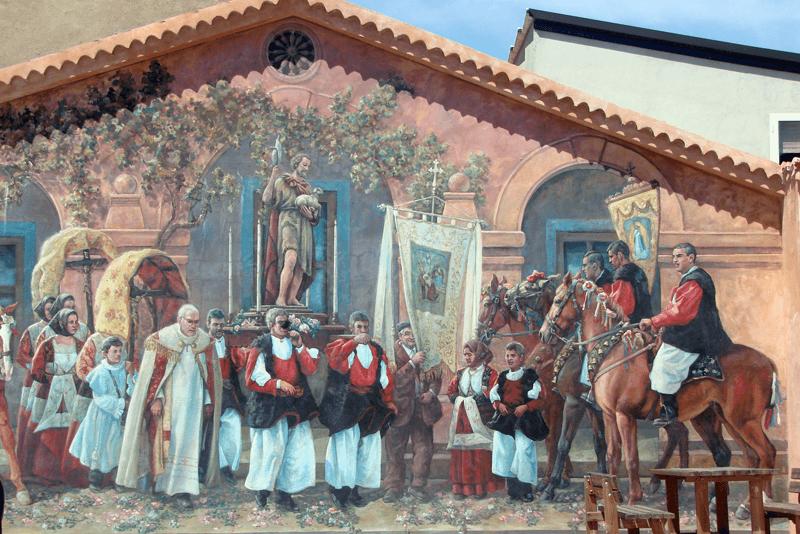 Muurschildering Fonni