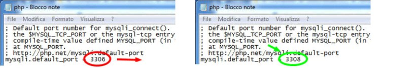 seconda modifica al file php.ini