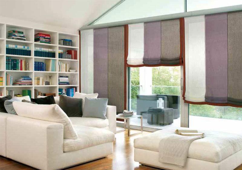 Binario tenda a pannello alluminio mm35 bianco nero alluminio satinato. Tende Per Interni Corsini Tendaggi Parma