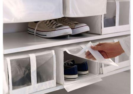 Riorganizza l'armadioaccessori interni per le scarpe