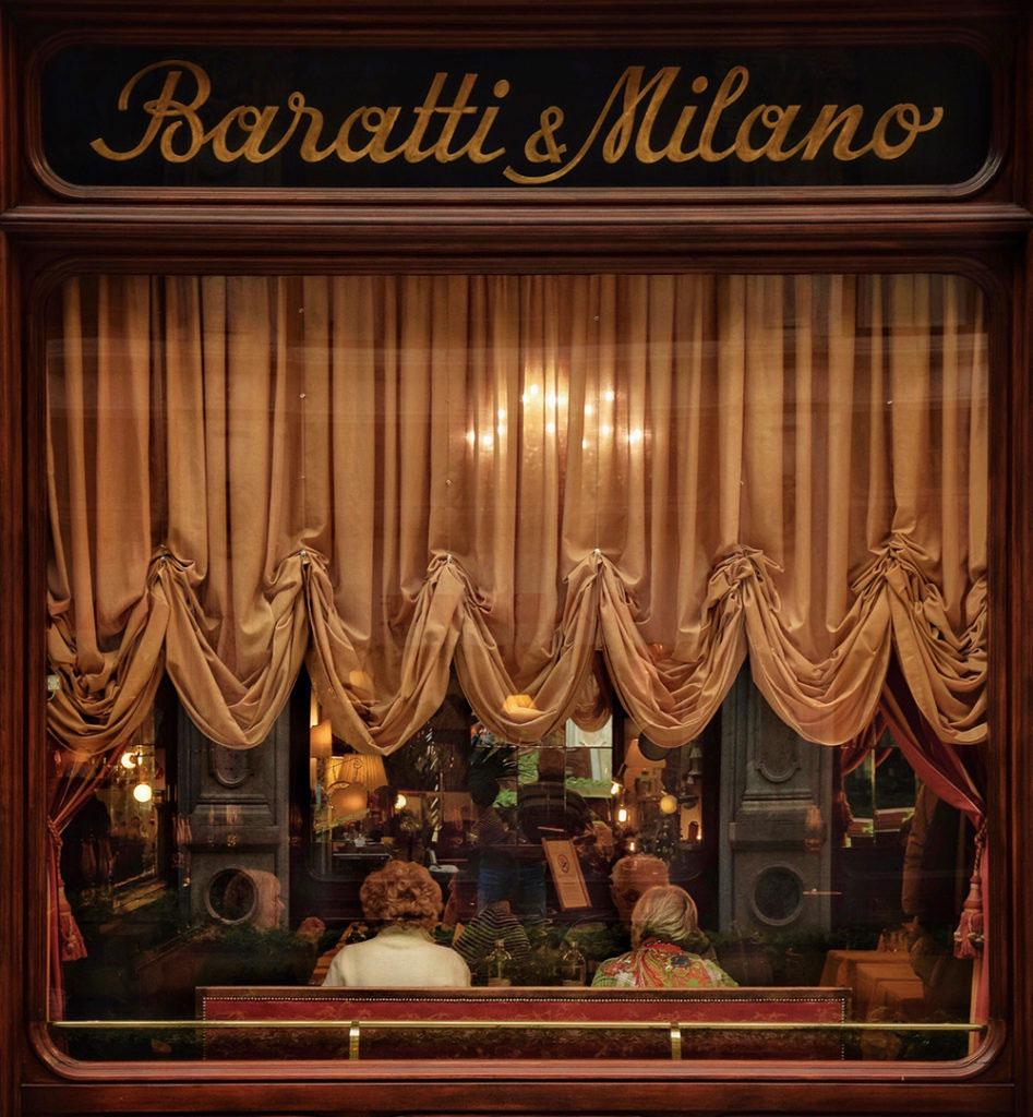 Vetrina del negozio Baratti & Milano