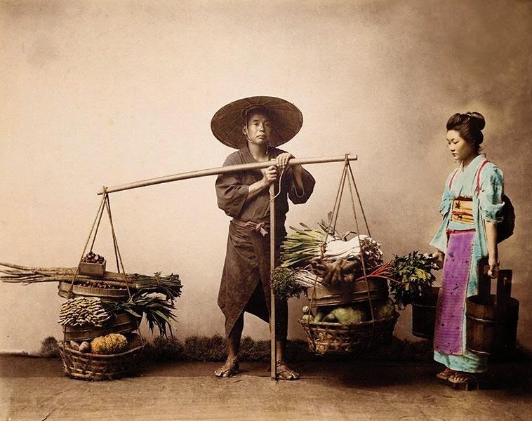 venditore di verdura Felice Beato