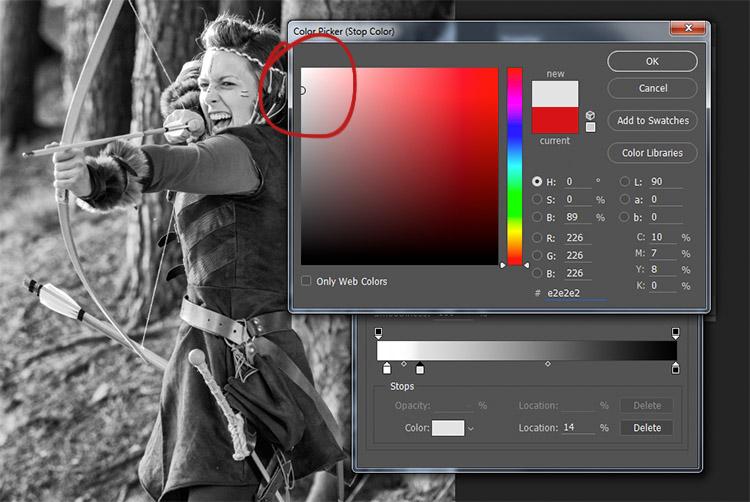 Scegli un colore per i toni medi della tua immagine