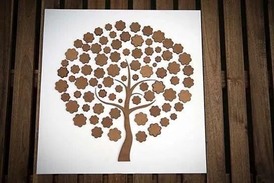 Libro de firmas en forma de árbol