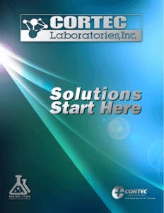 Cortec Lab Brochure Cover