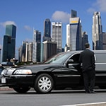 Limousine driver waiting for passenger in Singapore