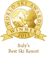 %name italys best ski resort 2013 winner shield gold 96