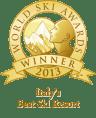 %name italys best ski resort 2013 winner shield gold 96