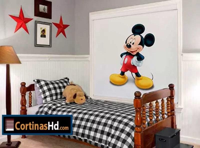 Cortinas Para Nios diseo Mickey Mouse Disney  Cortinashd