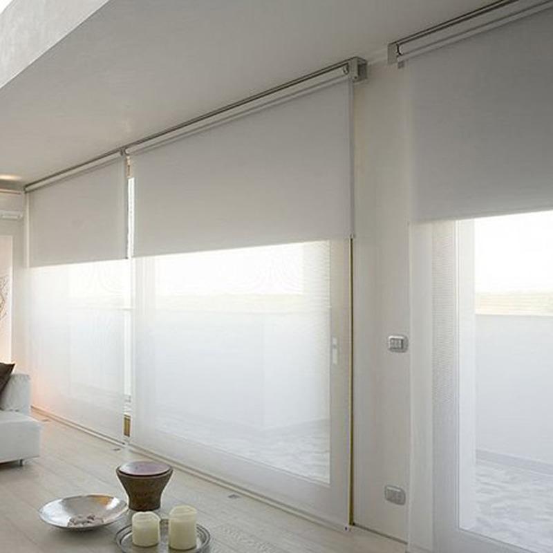 Sistema doble de cortinas Roller  Sun screen y Black out