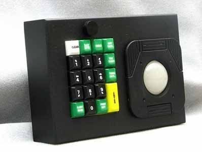 Cortron Model KP19 Keypad 2 inch DuraTrackball  Backlit Table Top Enclosure