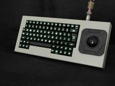 Cortron Model 84 Keyboard 2 inch DuraTrackball  Backlit Table Top Enclosure Extreme Shock and Water Resistance