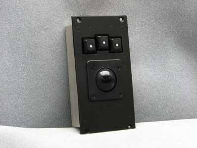 Cortron Model T14 Pointing Device 1 3/8 inch Trackball  Backlit Panel Mount Enclosure Brightness controlled by keyboard