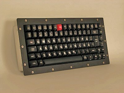 Cortron Model 80 Keyboard No Pointing Dev  Backlit Panel Mount Enclosure Swedish and Custom Legends & Code Mapping.