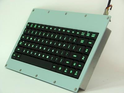 Cortron Model 80 Keyboard No Pointing Dev  Backlit Panel Mount Enclosure Extreme shock protection MIL-STD-901D Grade A.