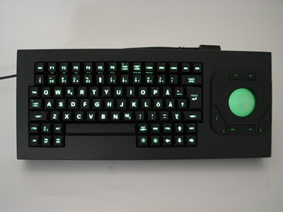 Cortron Model 84 Keyboard T20D  Backlit Table Top Enclosure Light Weight