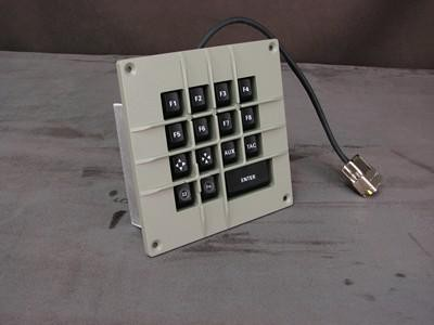 Cortron Model CUSTOM-KP Keypad No Pointing Dev  Backlit Panel Mount Enclosure Extreme Shock