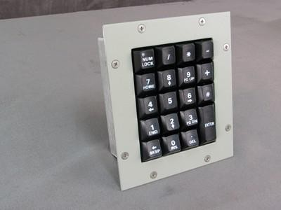 Cortron Model KP19 Keypad No Pointing Dev  Backlit Panel Mount Enclosure Extreme Shock and Water