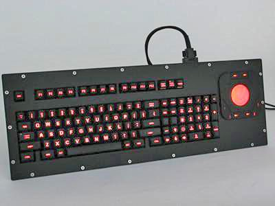 Cortron Model 100 Keyboard T20D  Backlit Panel Mount Enclosure