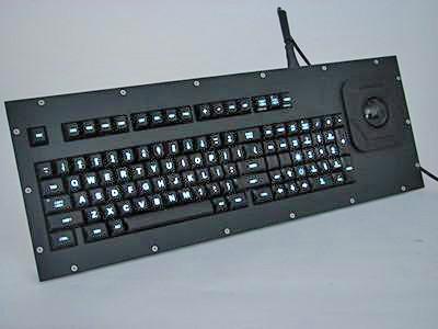 Cortron Model 100 Keyboard T20D  Backlit Panel Mount Enclosure Custom Function Key Legends.