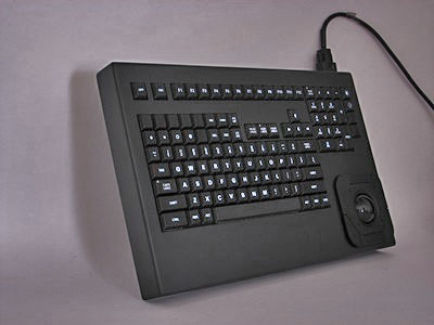 Cortron Model 121 Keyboard T20D  Backlit Table Top Enclosure Extreme shock and water resistance.