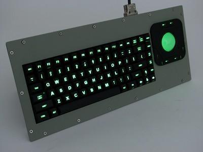 Cortron Model 80 Keyboard T20D  Backlit Panel Mount Enclosure