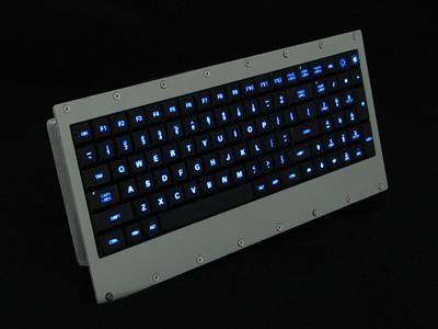 Cortron Model 90 Keyboard No Pointing Dev  Backlit Panel Mount Enclosure Tri-color back lighting