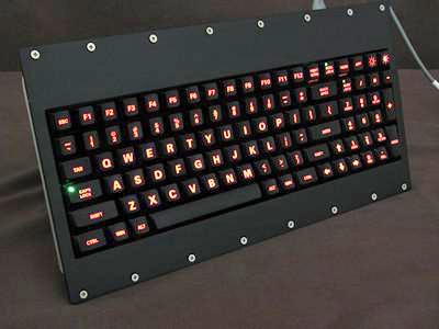 Cortron Model 90 Keyboard No Pointing Dev  Backlit Panel Mount Enclosure Light Weight