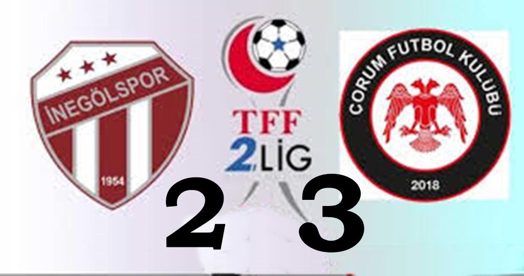 Çorum FK Şen Dönüyor: 2-3