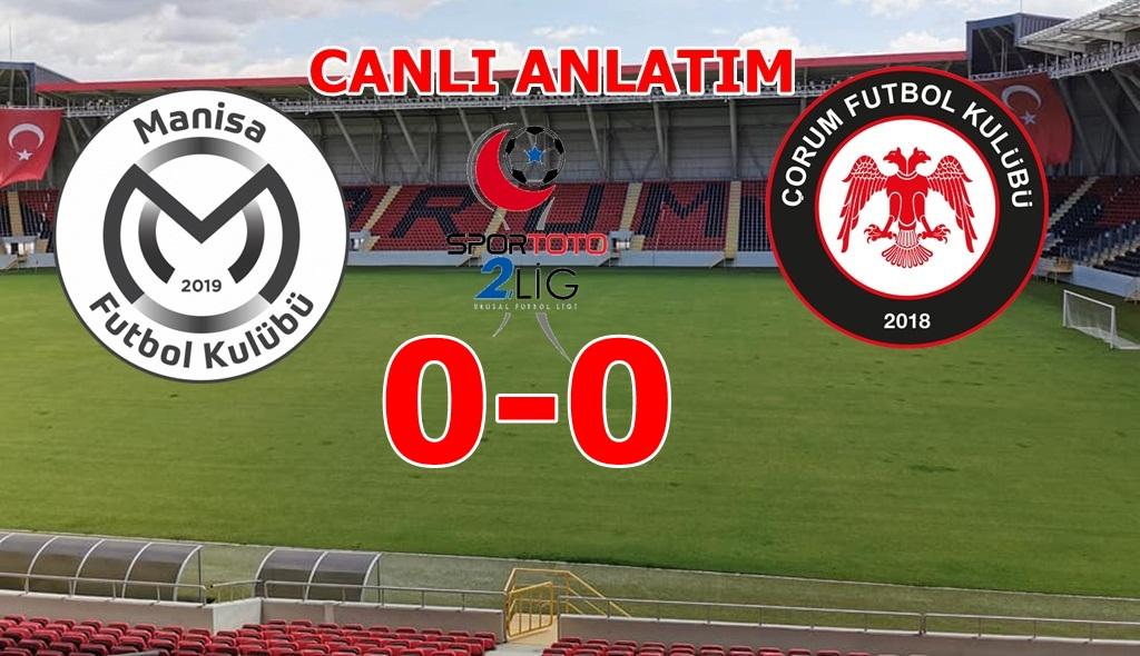 Manisa FK : 0- Çorum FK : 0