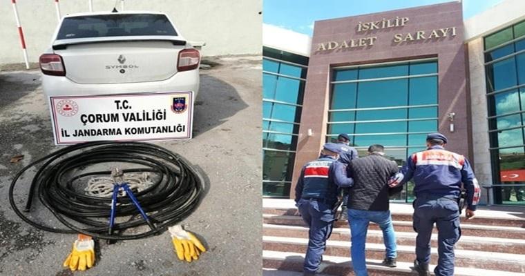 Kablo Hırsızı Yakalandı