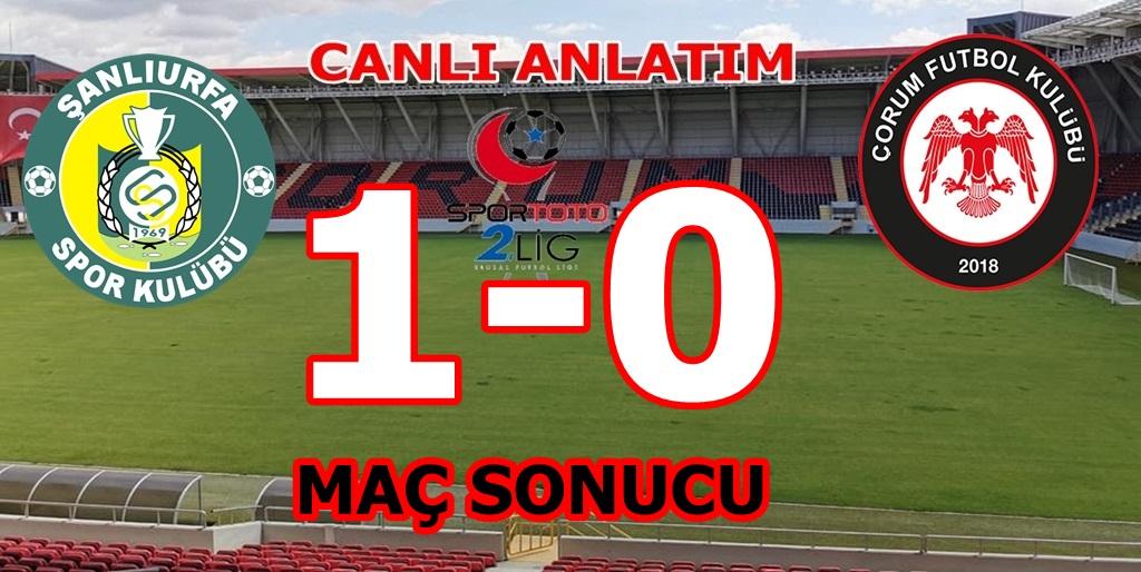 Şanlıurfaspor : 1 Çorum FK : 0