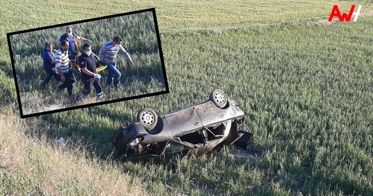 Otomobil Takla Attı : 3 Yaralı