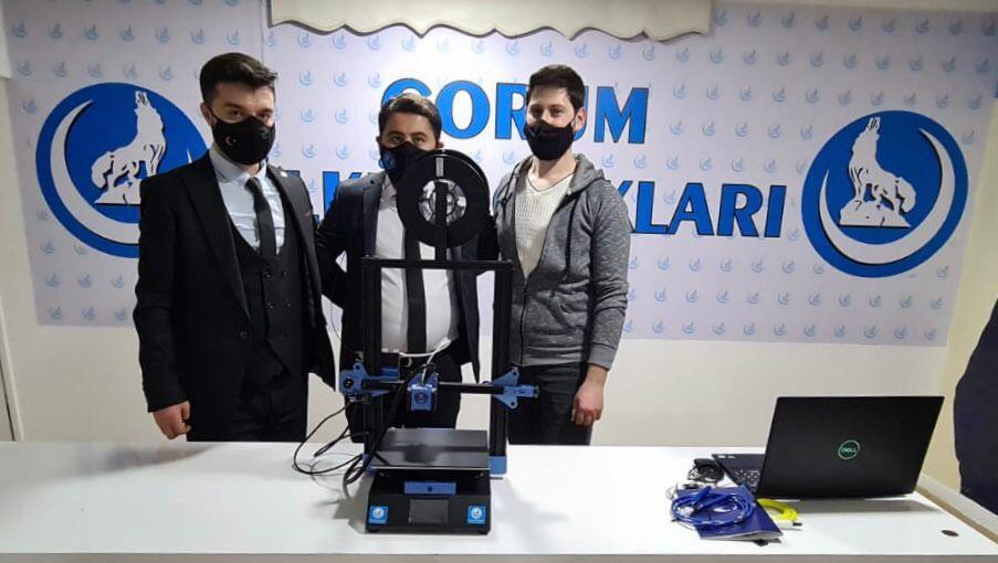 Çorum Ülkü Ocakları'ndan 3D Yazıcı