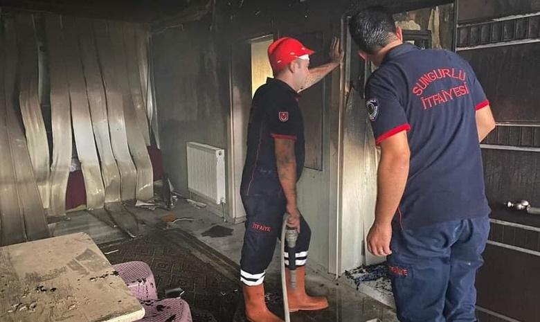 Sungurlu'da Çıkan Yangın Paniğe Neden Oldu