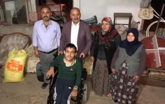 Engelli genci mutlu ettiler