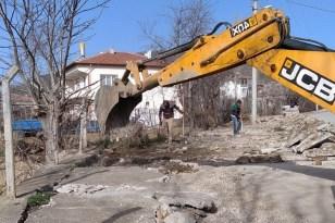 Ortaköy'de çalışmalar devam ediyor