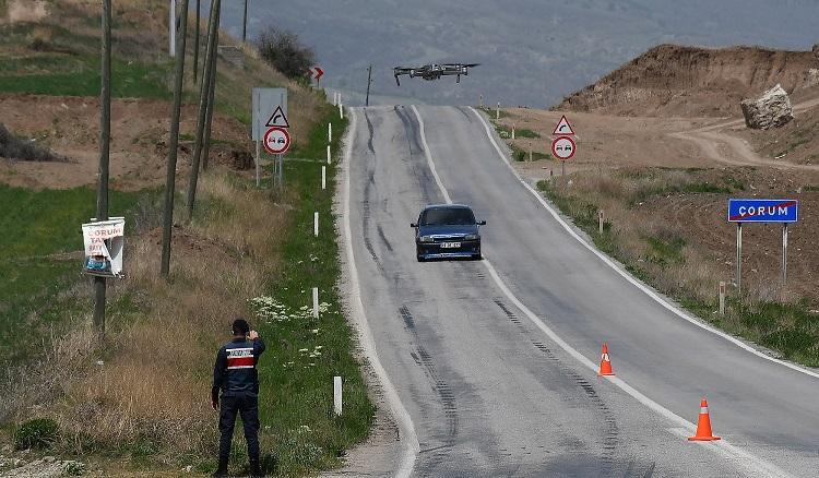 Jandarma drone ile denetim yaptı