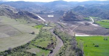 İncesu barajının yüzde 70'i tamamlandı