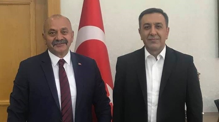 Başkan'dan Muhsin Dere'ye ziyaret