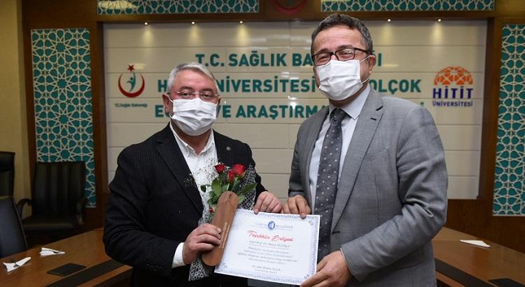 Sağlık çalışanlarına teşekkür etti