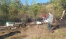 Yangından arı kovanları etkilendi