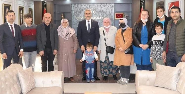 Ülkücü şehit ailelerinden ziyaret