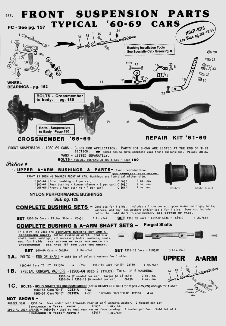 '64 Front upper control arms... Need a diagram or something
