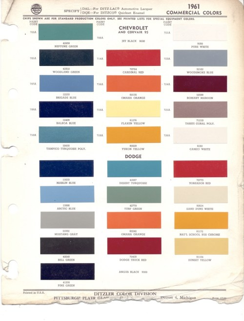 small resolution of ditzler 1961 commercial colors