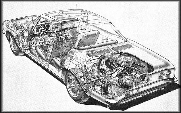 1976 Corvette Engine Compartment Diagram Corvair Cutaway Views And Production Figures