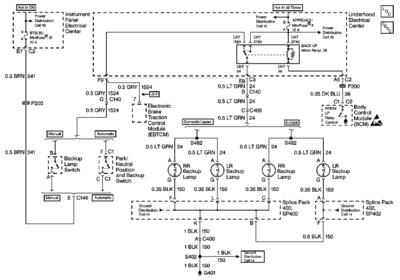 reverse light wiring diagram 4 pin led flasher relay back up lights not working manual transmission c5 corvette