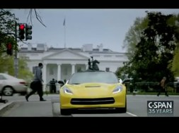 Vice President Joe Biden and the 2014 Corvette Stingray