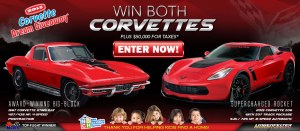 Enter now to win a 2015 Corvette Z06 and 1967 427 Corvette!